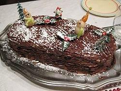 Bûche de Noël : Moyen Âge