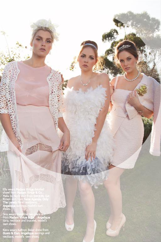Jessica King , Elle Wright, and Keira Bringham : Tops Models