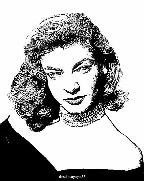 Lauren Bacall : dessinsagogo55