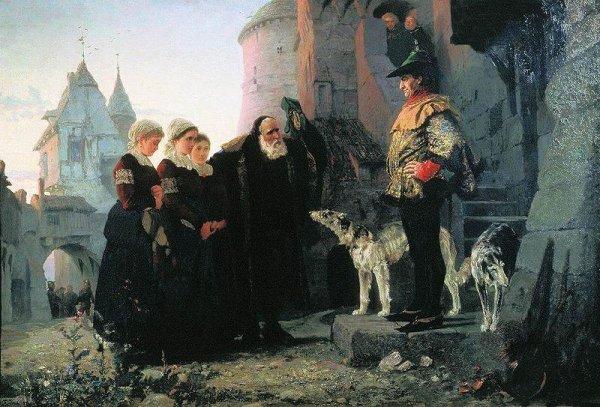 Vassili Polenov : Le droit du Seigneur (1874)