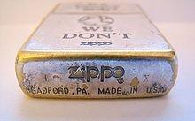 Zippo : Datation des Zippo