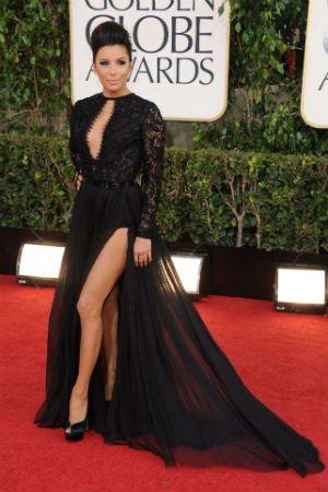 Eva Longoria en robe fendue Pucci