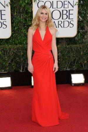 Claire Danes en robe rouge Atelier Versace