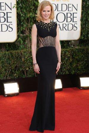 Nicole Kidman en robe noire Alexander McQueen