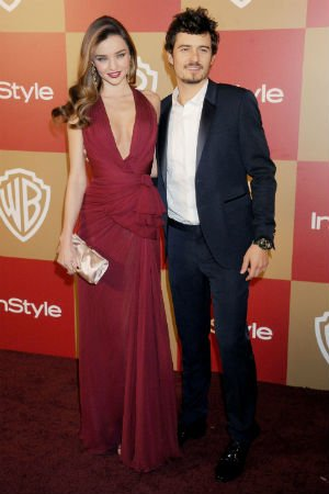 Miranda Kerr en robe grenat de Zuhair Murad