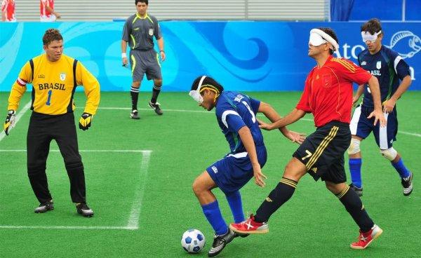 Match de foot lors des jeux paralympiques