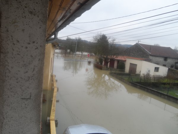 Tronville en Barrois : Une soudaine montée des eaux
