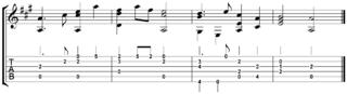 Guitare : Tablature