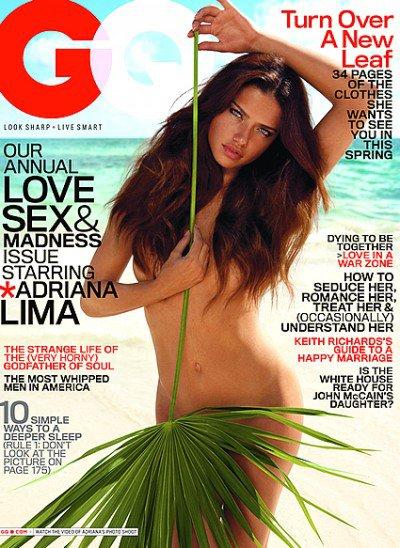 Adriana Lima pour GQ magazine