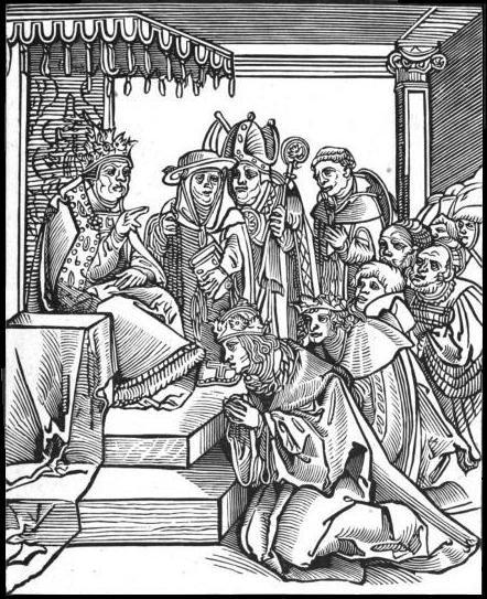 Baiser : Moyen Âge