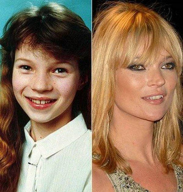 Kate Moss : Les stars jeunes et maintenant