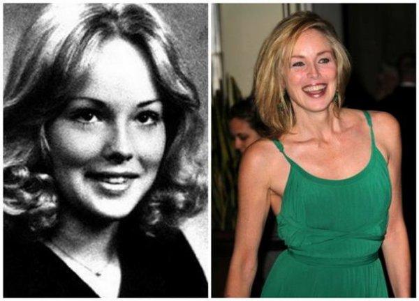Sharon Stone : Les stars jeunes et maintenant