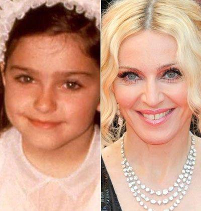 Madonna : Les stars jeunes et maintenant