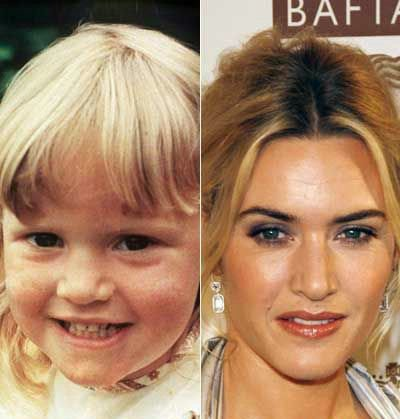Kate Winslet : Les stars jeunes et maintenant