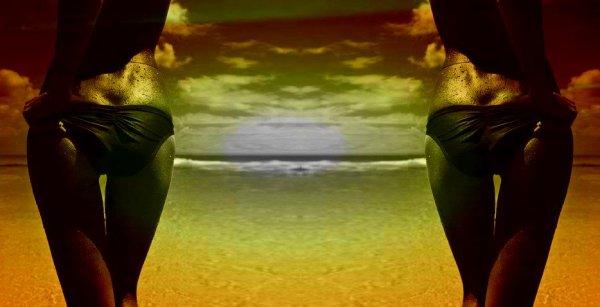 A la plage sous le soleil des tropiques : Fond de blog