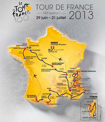 Le Tour de France 2013 : Itinéraire