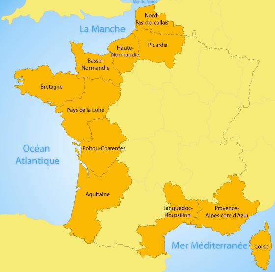 Stations balnéaires françaises