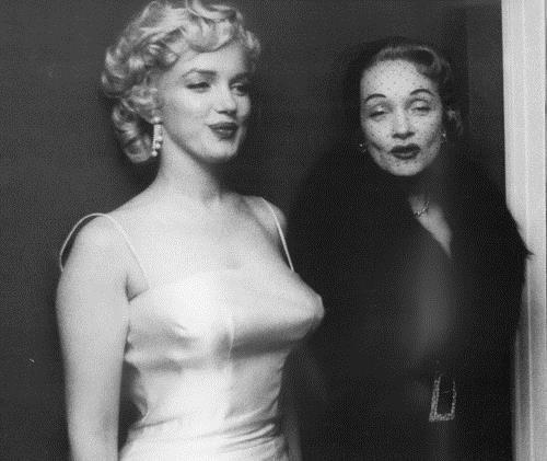 Marlène Dietrich et Marilyn Monroe
