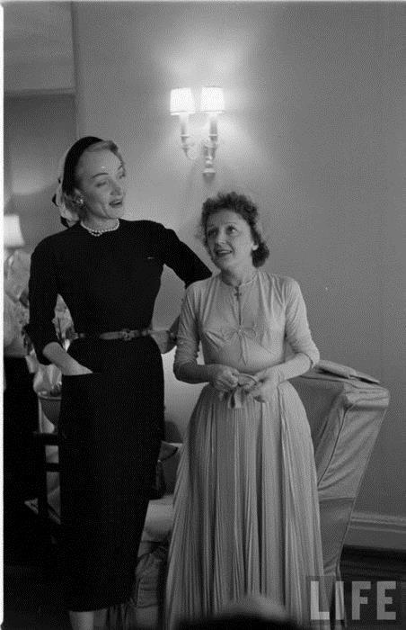 Marlène Dietrich et Edith Piaf