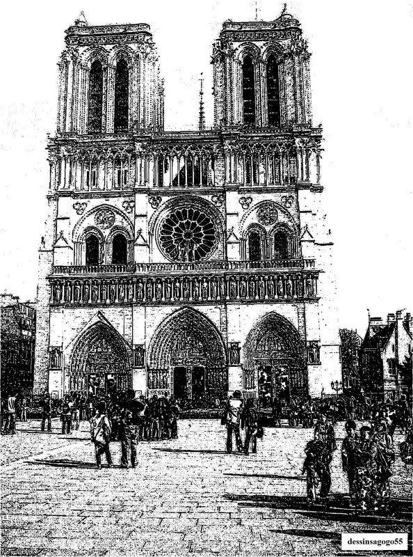 Notre Dame de Paris : dessinsagogo55