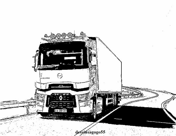 Renault Trucks gamme T : dessinsagogo55