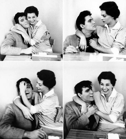 Sophia Loren et Elvis Presley 1958