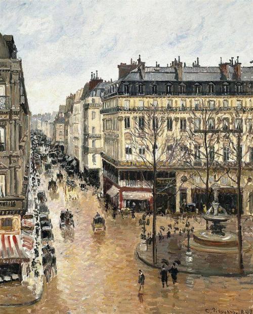 Camille Pissarro : Rue Saint-Honoré dans l'après-midi
