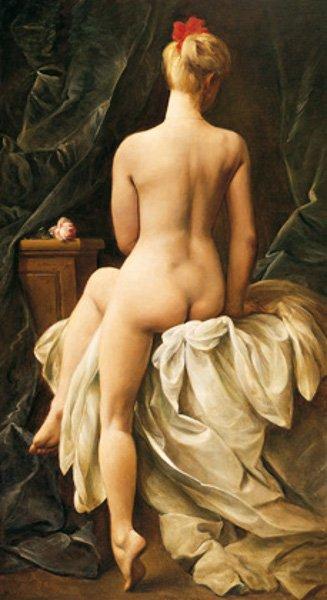 Cornelis le Mair : Nu assis