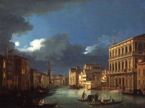 Giuseppe Bernardino Bison : Vue du Grand Canal au clair de lune