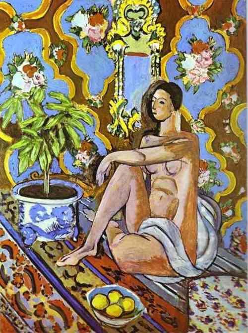 Henri Matisse : Figure décorative sur fond ornemental