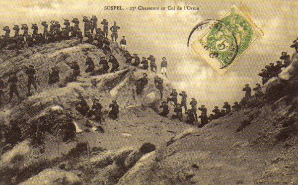 Sospel : 27e Chasseurs au Col de l'Orme