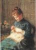 Charles Léandre : La mère du peintre, Pastel