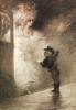 Charles Léandre : Le petit messager, Lithographie originale