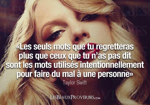 Taylor Swift : Les beaux proverbes