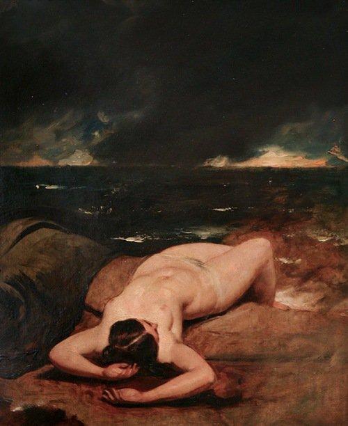William Etty (1787-1849), Nu féminin couché