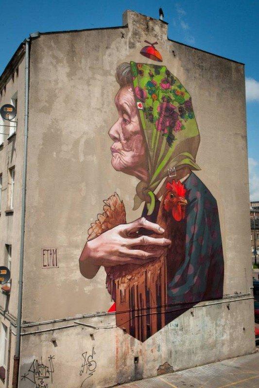 Artiste de rue Sainer Goes Big en Pologne