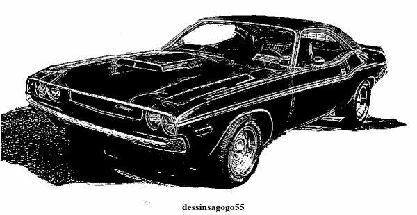 Dodge Challenger : dessinsagogo55