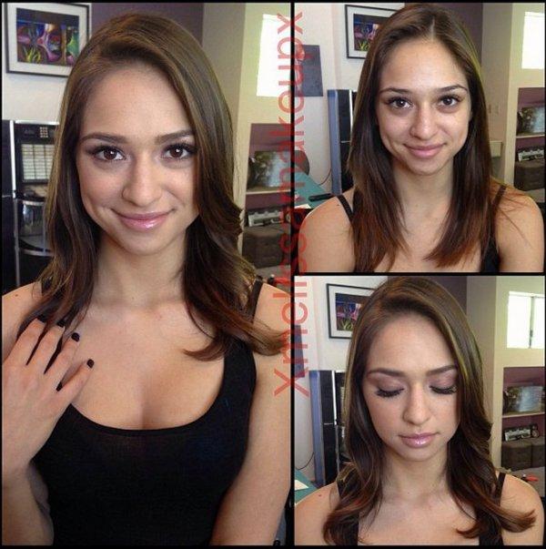 Les stars du porno avant et après maquillage