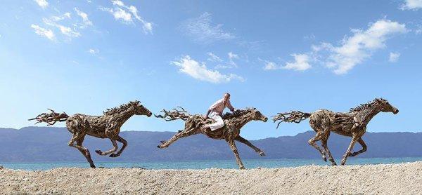 James Doran-Webb  : Sublimes Sculptures de Chevaux en Bois Flotté, Symboles de Liberté
