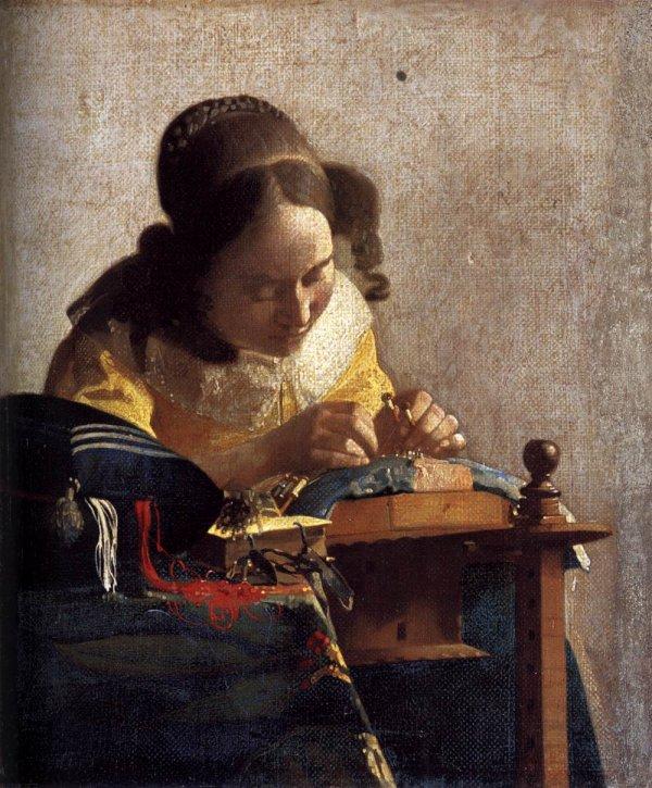 Jan Vermeer et trois de ses oeuvres ...