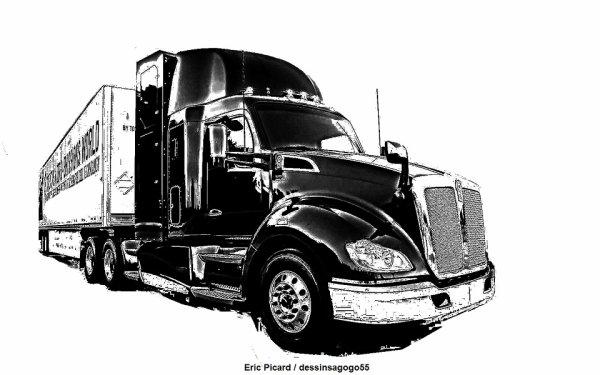 Toyota poids lourd à hydrogène : dessinsagogo55