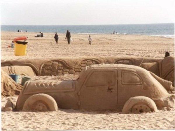 Sculptures sur sable