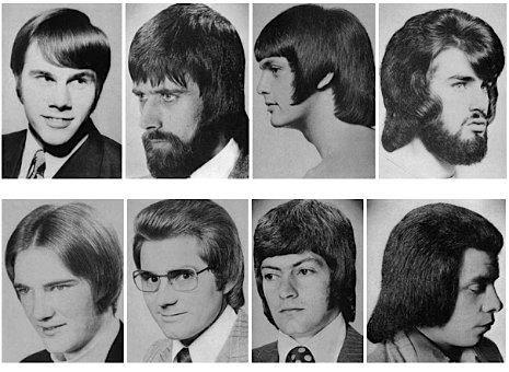 Coupes de cheveux pour homme dans les années 60 – 70 !!!