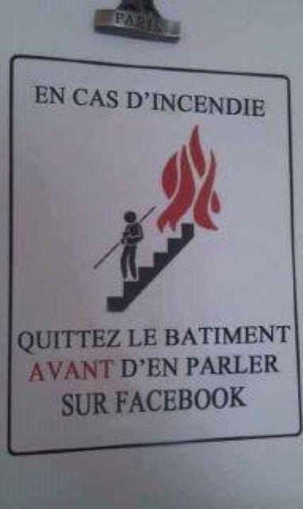 En cas d'incendie