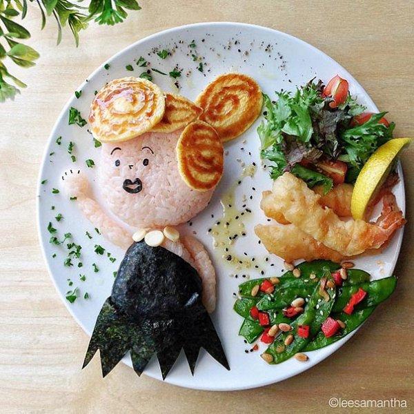Samantha Lee fait du food art pour ses enfants et devient une star du web