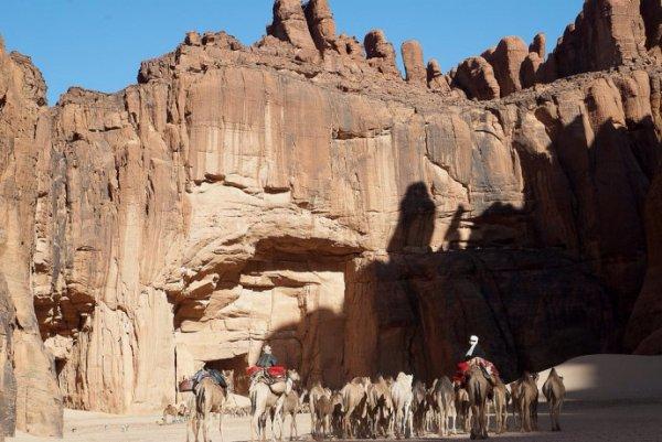 Guelta d'Archei célèbre trou d'eau du Sahara