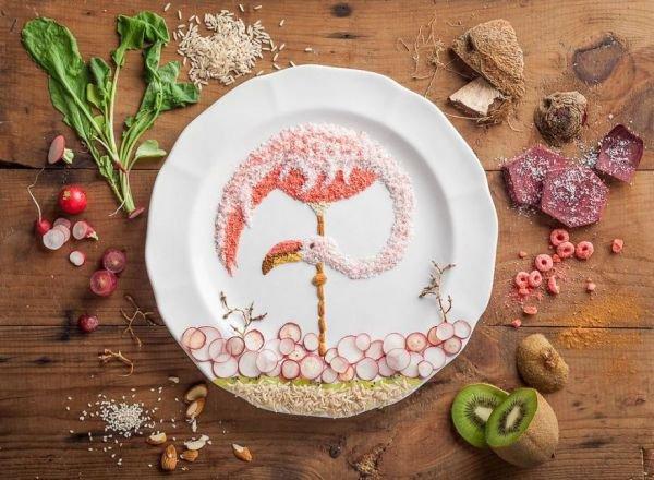 Anna Keville Joyce : Des oiseaux en Food Art
