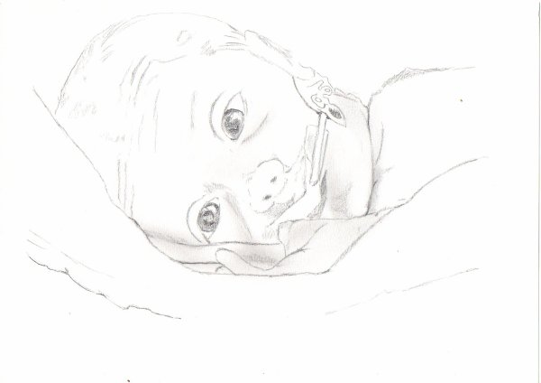 Pépette : dessin en cours