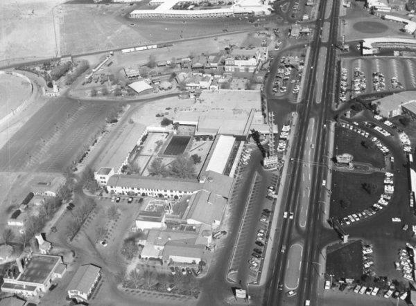 Las Vegas dans les Années 50 vu depuis les Airs