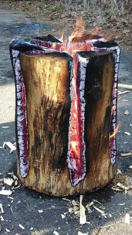 Feu de bois suédois